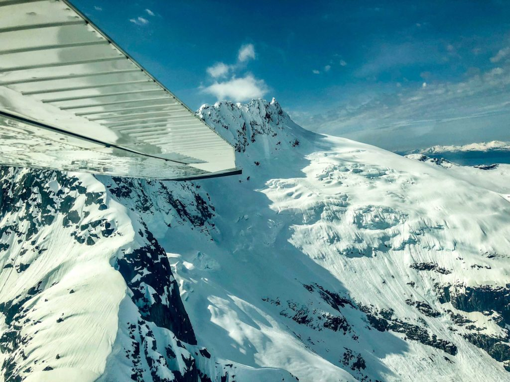 The 1500 square mile icefield is larger than the state of Rhode Island.